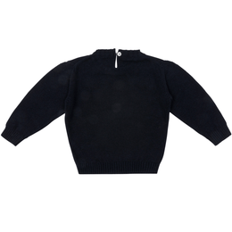 Crew-neck Blue Sweater