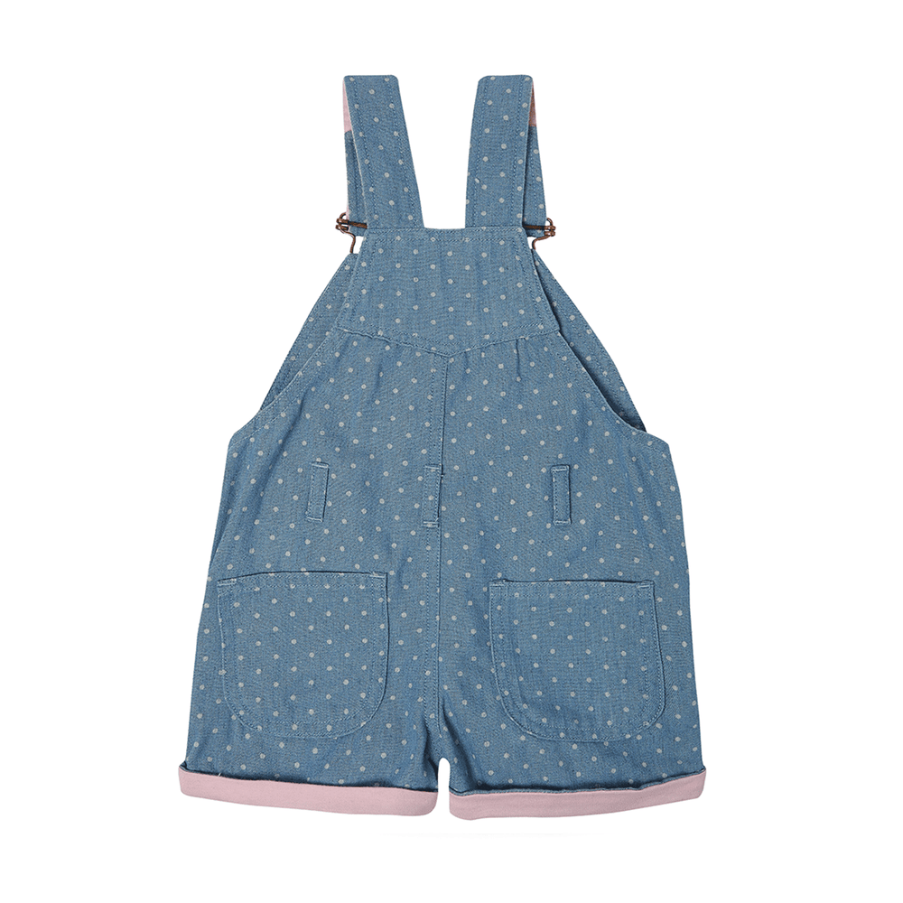 Dotty Denim Overalls
