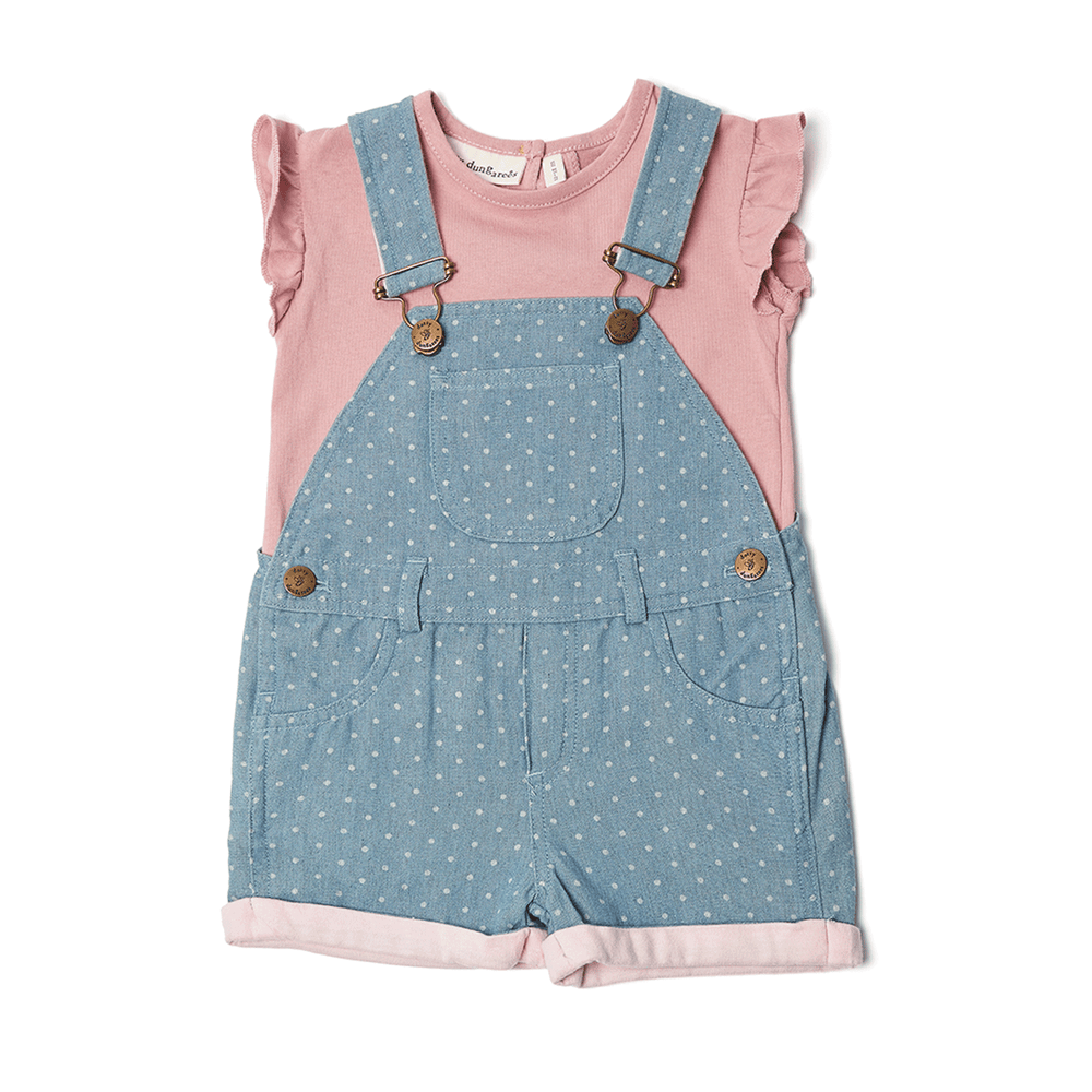 Salopette Denim Pois