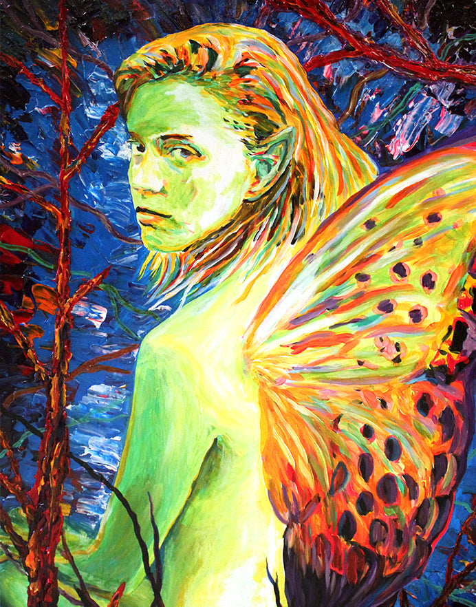 Painting of fairy woman