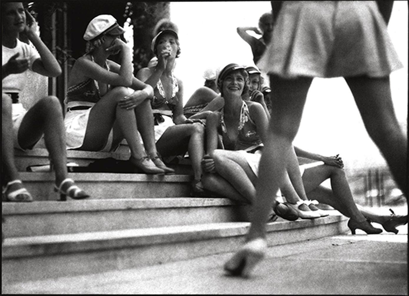 Jacques-Henri Lartigue crown on the stairs