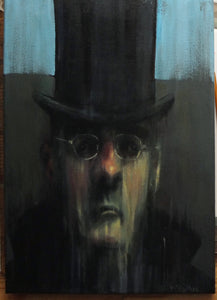 Oil Mogg - Oil on Canvas - A3
