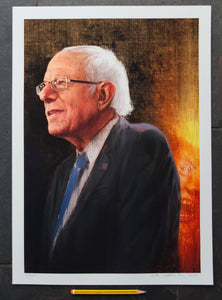 Portrait painting of Bernie Sanders