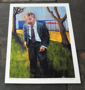 The Artist Leaving Sunderland - Ltd Ed A4