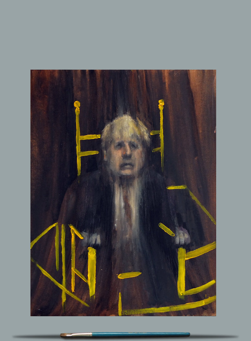 Pope Boris - Oil on Paper