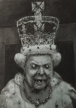 Load image into Gallery viewer, Study of Elizabeth II. Charcoal and Pastel on Paper - A3