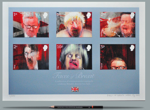 Faces Of Brexit - Ltd Edition A3