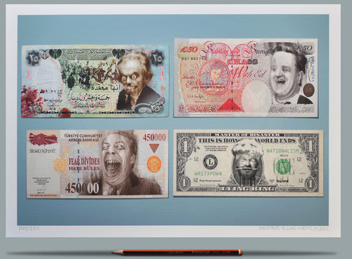Tony Blair, Nigel Farage, Donald Trump banknotes