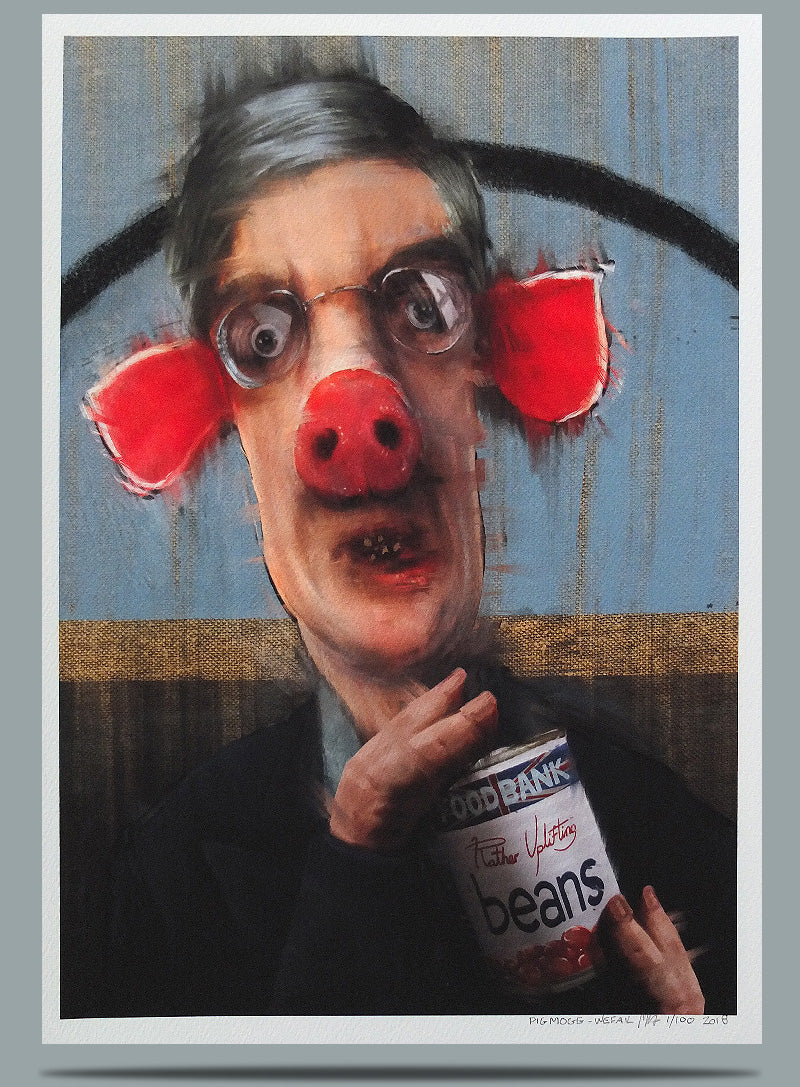 Jacob Rees Mogg Portrait Painting Wefail