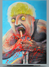 Load image into Gallery viewer, Boris de Pfeffel Devouring His Voters, watercolour 2020