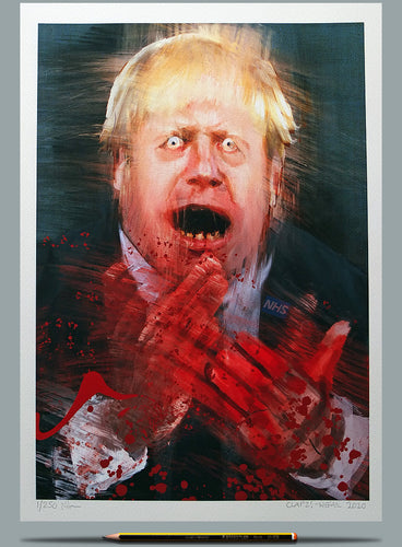 Boris clapping painting