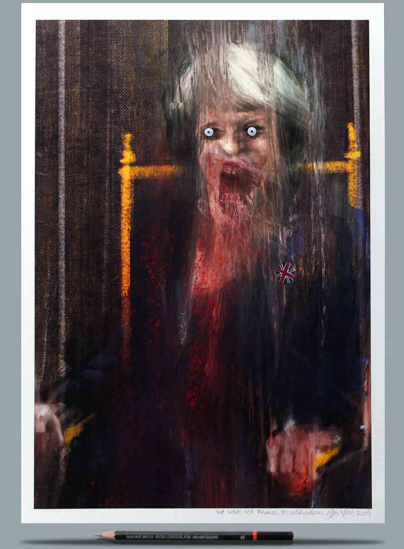 Portrait of Theresa May - Wefail Francis Bacon Screaming Pope