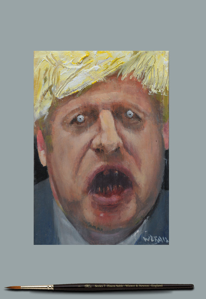 Study of Boris - Oil on Board