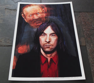 Bobby Gillespie Andrew Neil painting Primal Scream