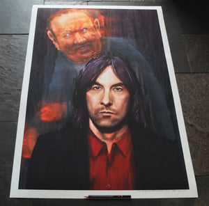 Bobby Gillespie portrait Andrew Neil painting Wefail