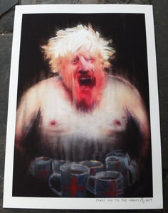 Boris Johnson painting portrait wefail BOJO