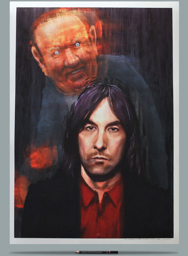 Bobby Gillespie portrait Andrew Neil painting