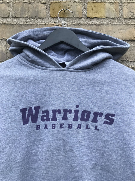 Vintage Warriors Baseball Hoodie - Medium