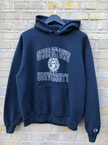 Vintage Champion Georgetown Hoodie - Medium