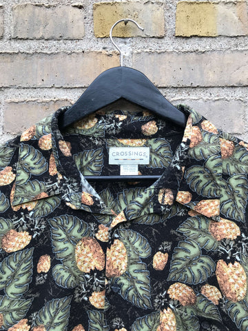 Vintage Hawaii Pineapple Skjorte - XXL