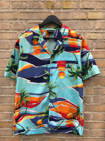 Vintage Hawaii Sunrise Skjorte - Small