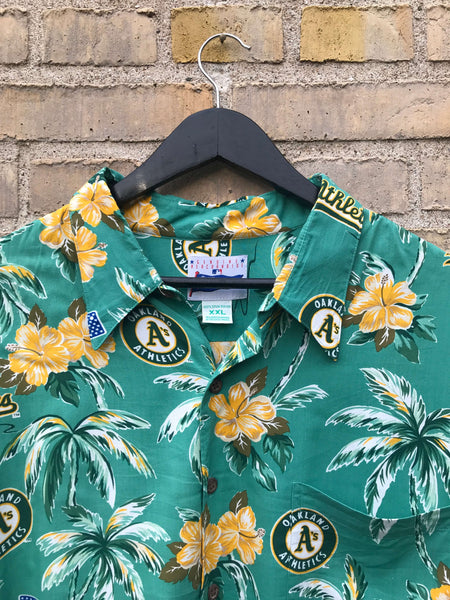 Vintage Oakland Athletics Hawaii Skjorte - XXL