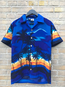 Vintage Hawaii Sunset Skjorte - Small