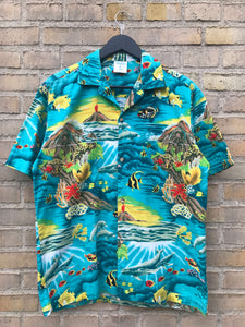 Vintage Hawaii Ocean Skjorte - Medium