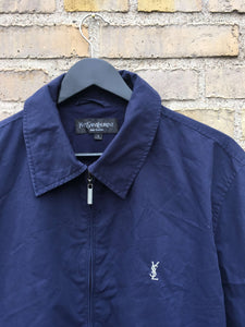 Vintage Yves Saint Laurent Harrington Jakke, Large