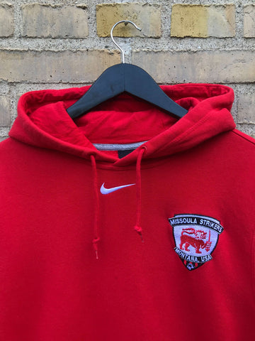 Vintage Nike Centre Swoosh Hoodie - Small