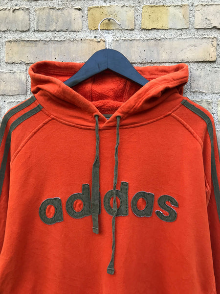 Vintage Adidas Spellout Hoodie - XL