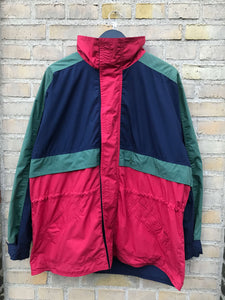 Vintage Color Block Parka - Medium