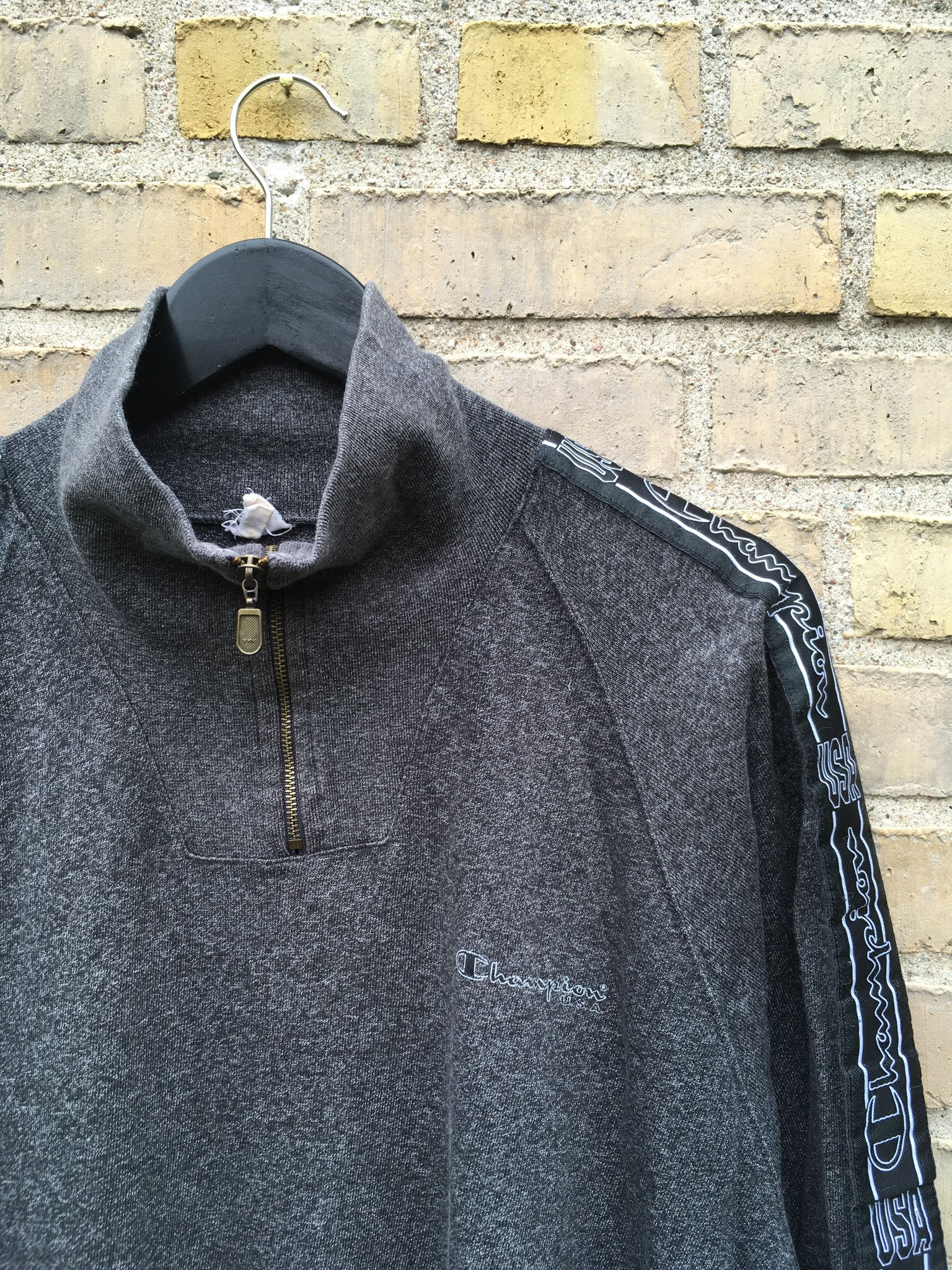 Vintage Champion Half-Zip, Large