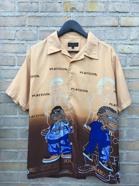 Vintage Hiphop Platinum Skjorte, Large