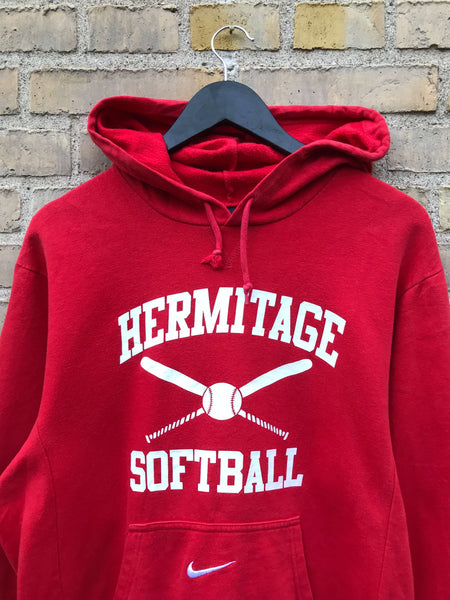 Vintage Nike Hermitage Softball Hoodie, Medium