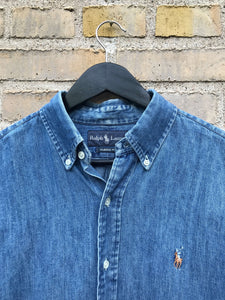 Vintage Ralph Lauren Denim Skjorte - Medium