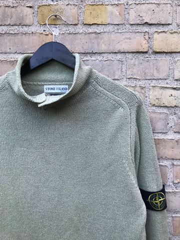 Vintage 1998 Stone Island Mock Neck Strik - Medium