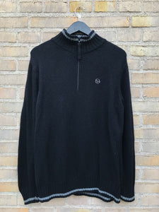 Vintage Sergio Tacchini Half-Zip Strik - Medium