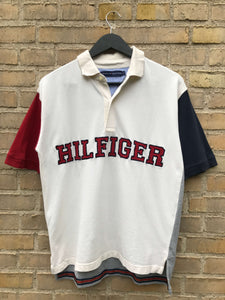 Vintage Tommy Hilfiger Spellout Polo - Medium