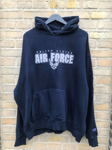 Vintage Champion US Air Force Hoodie - XL