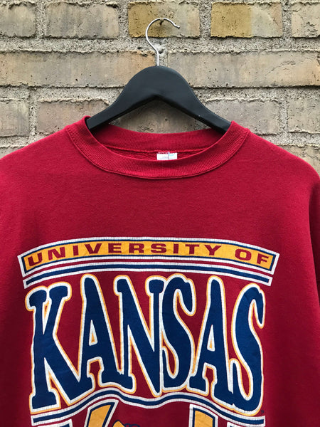 Vintage University of Kansas Sweatshirt - Large