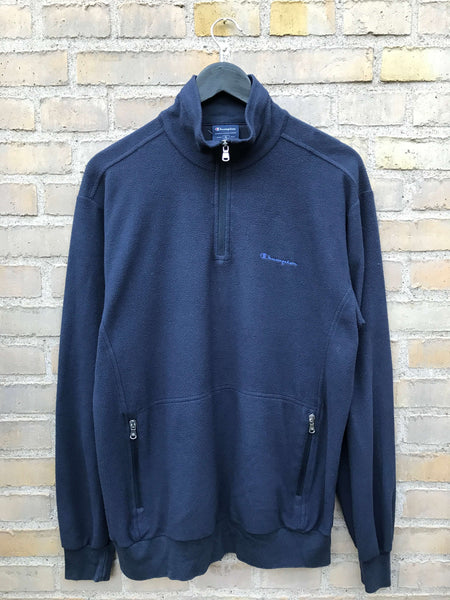 Vintage Champion Half-Zip Fleece - Large