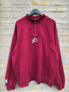 Vintage 90's Adidas Washington Redskins Half-Zip, XL
