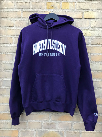 Vintage Champion Northwestern Hoodie - Small