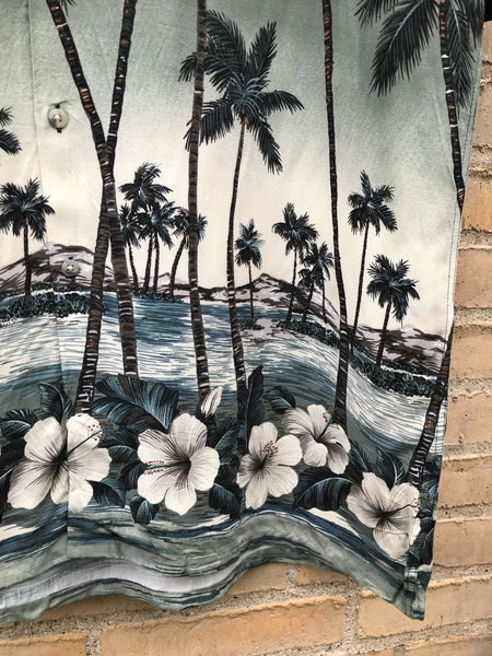 Vintage Hawaii Palm Skjorte - XXL