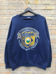 Vintage 1989 West Virginia Sweatshirt - Large