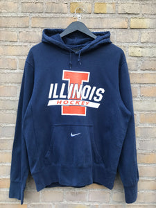 Vintage Nike Centre Swoosh Illinois - Medium