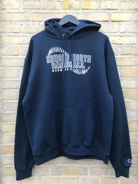 Vintage Champion Edmond North Hoodie - Large