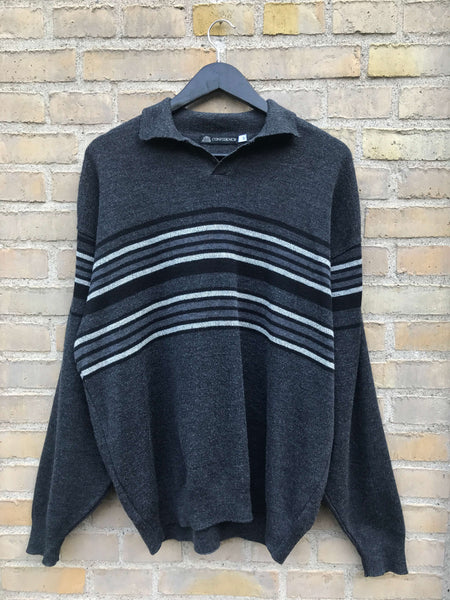 Vintage Striped Striktrøje - Large
