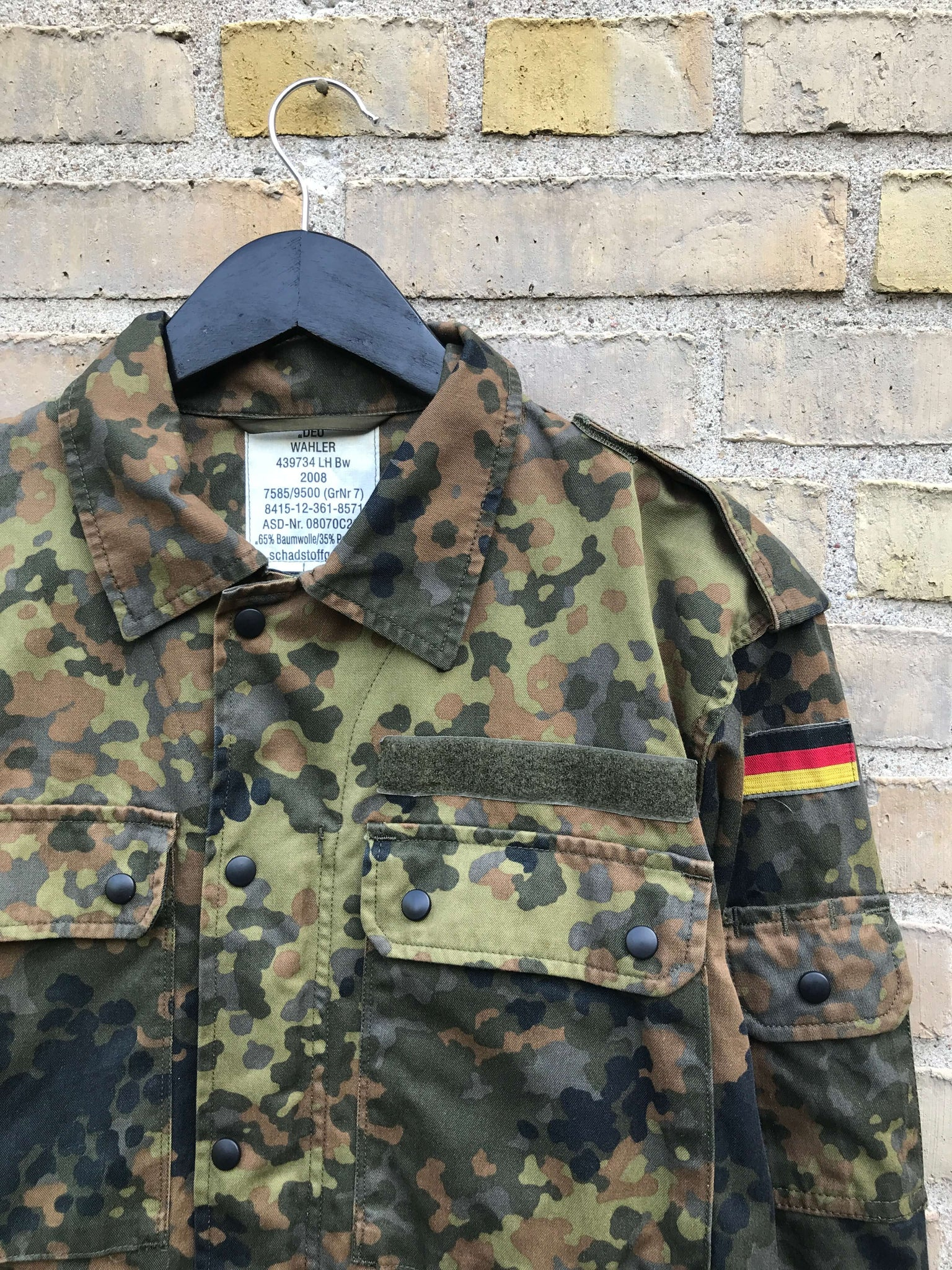 Vintage German Military Camo Jakke - Medium